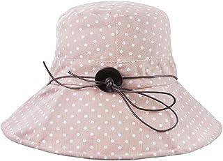 FakeFace Women's Hat Sun Hat Cotton Sun Protection Beach Hat Adjustable Hat Cap Anti-UV