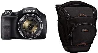 Sony DSC-H300 - Cámara compacta de 20.1 MP (Pantalla de 3 Zoom óptico 35x estabilizador de Imagen electrónico vídeo HD 720p) Negro + AmazonBasics - Funda para cámara de Fotos réflex Color Negro