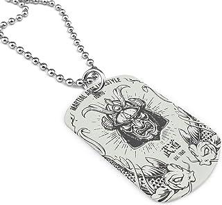 Custom Bushido Samurai Army Style Men`s Military Pendant Dog Tag Pendant Necklace Gift