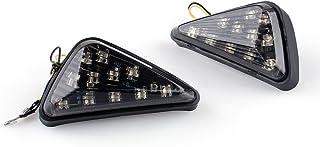 fanale Posteriore con Lenti fumose Indicatori di direzione integrati per Lampada CBR 600//F4//900RR Aramox Fanale Posteriore a LED per Moto