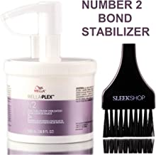 Wella WELLAPLEX NC2 Bond Stabiliser (with Applicator Brush) Plex No2 Bond Stabiliser Number 2 (16.9 oz / 500 ml - PROFESSIONAL SIZE)