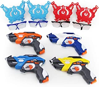 Boley Laser Tag 12 Piece Game Set - Two-Team Game Sets with 4 Infrared Toy Gun and Vest Kits and Battle Ready Googles - Great for Birthday Parties and Family Fun!