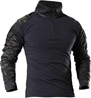 Herren Military Shirt Tactical Army Combat Shirt Langarm Freizeit T-shirt Casual