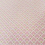 Werthers Stoffe Stoff Meterware Baumwolle rosa Raute