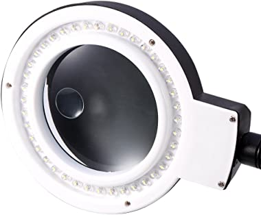 40 LED Light Multi Function Magnifying Crafts Glass Desk Lamp 5X 10X Magnifier