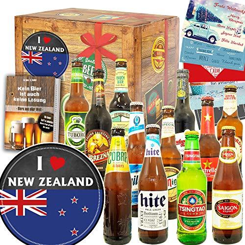 I love New Zealand + Neuseeland Geschenkpaket + Biere aus aller Welt