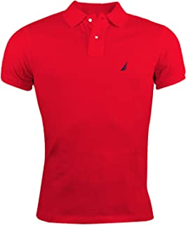 Men's Short Sleeve Solid Cotton Pique Polo Shirt