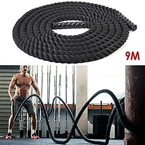 Mejorar la forma física: El entrenamiento de battle rope puede ejercitar todos losmúsculos del cuerpo, mejorar la resistencia y el acondicionamiento. Mejora de la composición corporal con disminución de porcentaje de grasa Buena calidad:La batalla ...