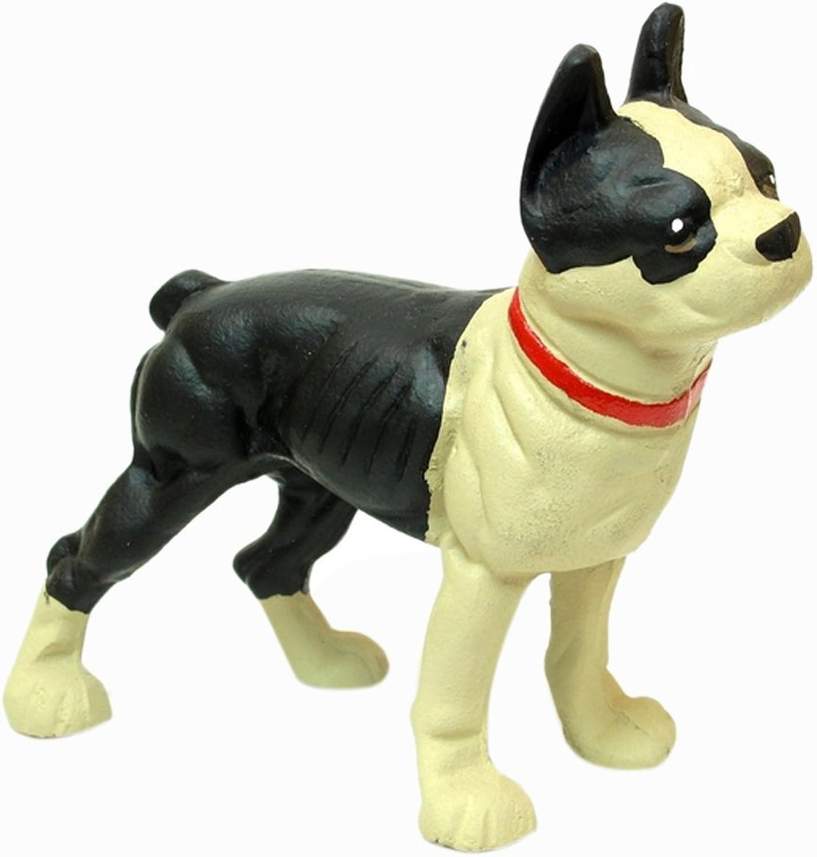 Iwgac Home Indoor Decorative Cast Iron Door Stop Bulldog Boston Terrier