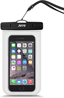 "JOTO Waterproof Cellphone Dry Bag Underwater Case for iPhone Xs Max XR X 8 7 6S Plus, Galaxy S10 Plus S10e S9 + Note 9 8 Pixel up to 6.5"", Waterproof Pouch for Pools Tubing Beach Snorkeling -Clear"