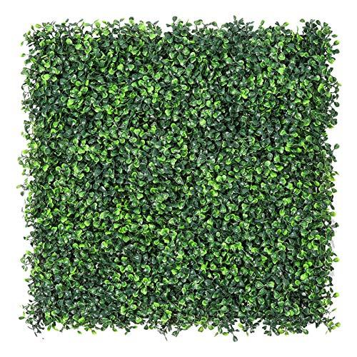 Sunnyglade Künstliche Buchsbaum-Pflanzen, 50,8 x 50,8 cm, Sichtschutz-Hecke, UV-geschützt, für Außen- und Innenbereich, Gartenzaun, Hinterhof, 12 Stück