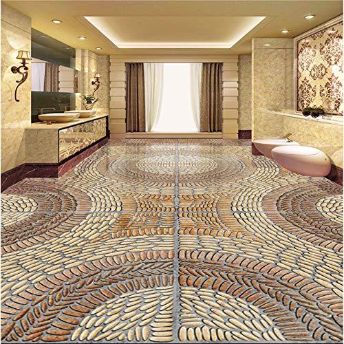 Grote Aangepaste Wallpapers Woonkamer 3D Stenen Graan Driedimensionale Kiezels 3D Vloer Tegel Schilderen 450cm(L) x300cm(W)