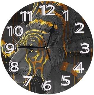 ساعة الحائط الحديثة ساعة الحائط الصامت الخيمياء النمر تصميم غير تداعج الزخرفية ساعة الكوارتز