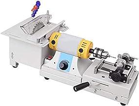KAUTO Upgrade Mini Sierra de Mesa para carpintería DIY Banco de carpintería Hecho a Mano Torno de Corte Banco de perforación Máquina de Torno Banco de Trabajo de Madera Multifuncional (220V)