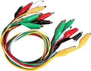POPESQ/® Cable con Doble Pinza cocodrilo 5 Colores//Colors 40 cm Alligator Clips Cable #A319