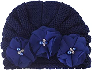 Soft Newborn Flower Beanie Hat Baby Knitting Cap Suitable for Autumn and Winter