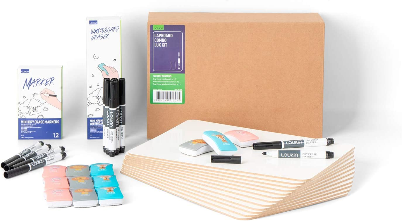 LOUKIN 12 Japan Maker New Pack Dry Erase Lapboards Double-Sided Inches S 9 x Max 67% OFF