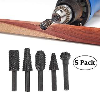 Carbide Rotary Burr Set - 5 Piece Set of Durable 1/4