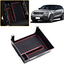 Jiahe Armrest Storage Box for Velar Center Console Organizer Insert Cup Holder ABS Tray Pallet Container with USB Hole