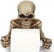 XWYWP Toilet Roll Houder Creatieve Skelet Schedel Muur Opknoping Toilet Papier Houder Hars Craft Skelet Vorm Sculptuur Tis...
