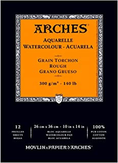 "Arches Watercolor Pad, Rough 10""X14"", 400014957, White, 10"" x 14"""