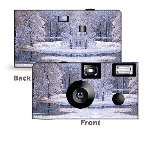 Best Bargain 5 Winter Wonderland Single Use Disposable Camera, Holiday Party, Christmas