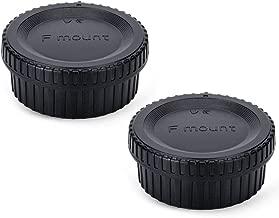 2 Pack JJC Body Cap and Rear Lens Cap Cover Kit for Nikon D7000 D7100 D7200 D7500 D5100 D5200 D5300 D5500 D5600 D3500 D3400 D3300 D3200 D750 D610 D500 D850 D810 and More Nikon F Mount DSLR and Lens