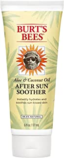 Burt's Bees Aloe and Coconut Oil After Sun Soother, Sunburn Relief Lotion - 6 Ounce Bottle