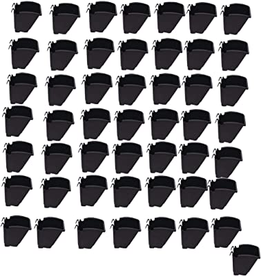 BIO BLOOMS AGRO INDIA PRIVATE LIMITED Vertical Garden Pots, M2 Model Wall Hanging Pots, 50 Pieces, Black Bio_81A