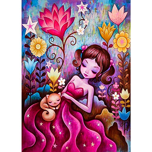 DIY 5D Diamond Painting Kits, Sleeping Girl Full Drill Crystal Large Diamond Painting Kits for Adults and Kids, Perfect for Home Wall Decor Gift (14x18inch)