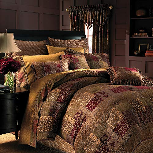 Croscill Galleria 4 Piece King Comforter Set, Red