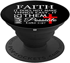 Christian Faith Bible Scripture Luke 1:37 Gift - PopSockets Grip and Stand for Phones and Tablets