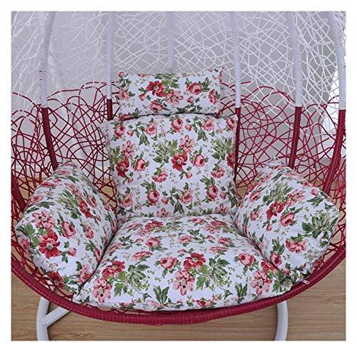 Cojines para exteriores para sillas de patio Cojines colgantes para sillas tipo hamaca con forma de huevo sin soporte, Cojín para asiento columpio Nido grueso respaldo para silla colgante con almoha