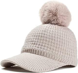 L.Z.H Cap Wool Hat Baseball Cap Hair Ball Cute Outdoor Leisure Hat Female Korean Version Cover Face Slim Fashion Hat Men and Women Hat (Color : Beige, Size : 56-60CM)