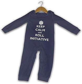 David A Beltran Strampler mit Aufschrift Keep Calm and Roll Initiative für Mädchen und Jungen, Baumwolle, für Neugeborene