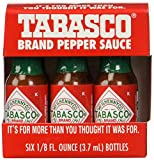 "TABASCO brand Pepper Sauce ""6-pack Miniatures"" 1/8oz."