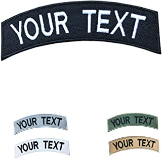 """PPXP Embroidery Name Patches, 2 Pieces Embroidery Name Tags, Custom Name Patch, Personalized Military Patches, Moral Name Patch for Uniform, Work Shirt, Hat, Bags, Vest (Black, Small (4""""x1""""))"""