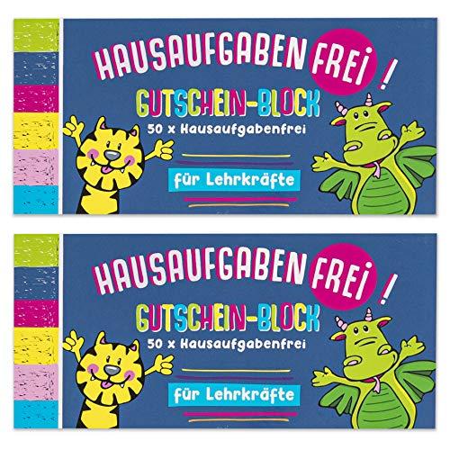 Trendhaus 601469 Belohnungssystem für Kinder  100 x Hausaufgaben-Frei-Gutscheine  Fleißkärtchen für Schüler, bunt