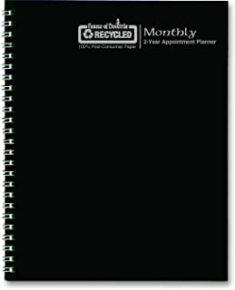 House of Doolittle 2017-2 Year Calendar Planner, Monthly, Black Hard Cover, 8.5 x 11 Inches (HOD262092-17)