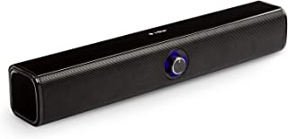 Soundbar Mini Portable Bluetooth PC and TV Speakers, Compact 20W Wireless Computer Speaker Sound Bars for Gaming, True Wir...