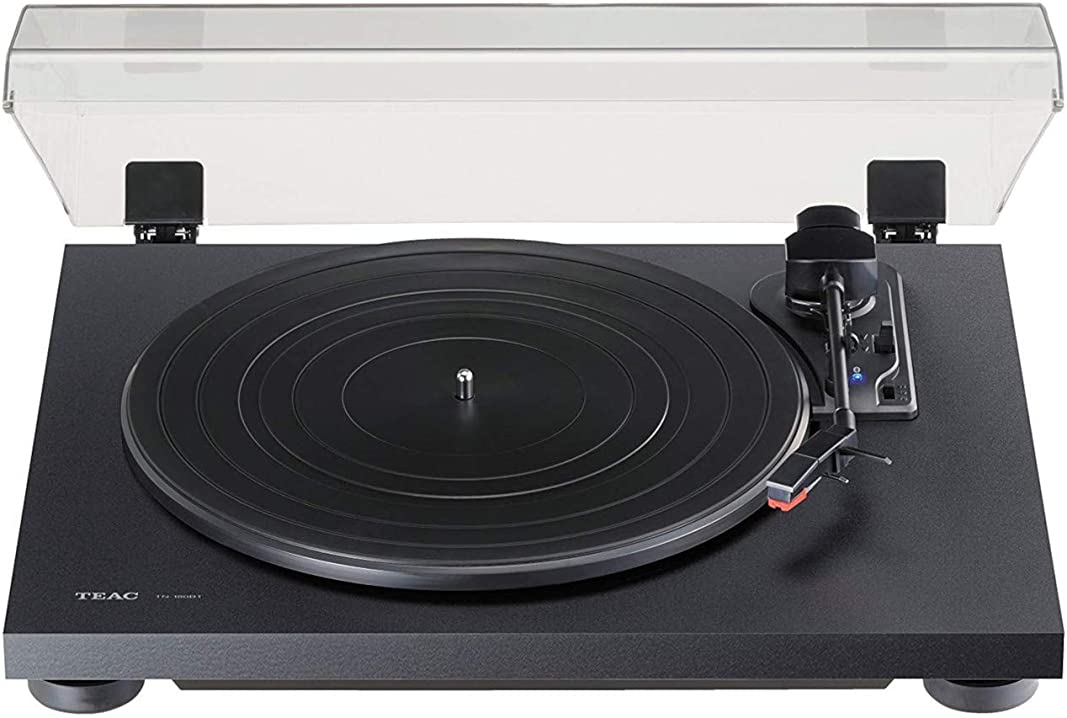 Giradischi analogico a 3 velocità con phono eq e bluetooth, nero teac tn-180bt-b