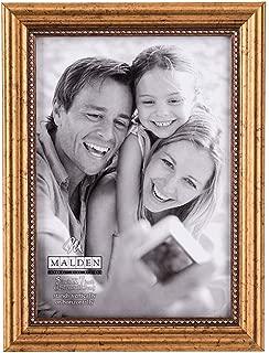 Malden International Designs Classic Wood Picture Frame, 5x7, Gold