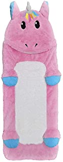 "iscream Furry Unicorn 73"" x 25"" Faux Sherpa-Lined Plush Fleece Zippered Sleeping Bag"