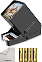 Rybozen 35mm Film and Slide Viewer, 3X Magnification and Desk Top LED Lighted Illuminated Viewing and Battery Operation-for 35mm Slides & Positive Film Negatives(4AA Batteries Included) (Renewed)