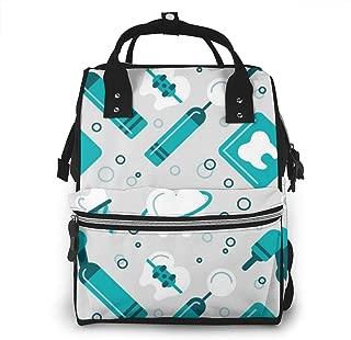 Flat Dentist Multi-Function Travel Backpack Nappy Bag,Fashion Mummy Bag