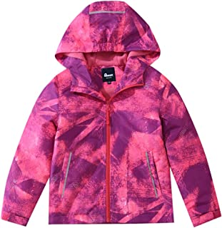 Hiheart Boys Windproof Fleece Lined Padded Jacket Outdoor Coat with Hood
