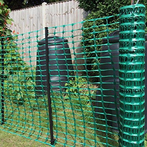 True Products B1001F aufgerollter Absperrzaun aus Kunststoff, 50 m, grün - 2