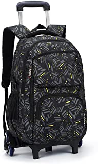 YUB Rolling Backpack On Wheels High-Capacity School Bag Backpacks for Students Climbing Stairs