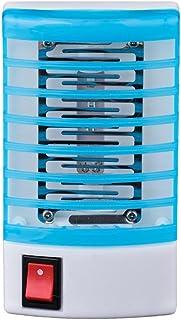 SALLYDREAM Trampa Eléctrica para Mosquitos LED Asesino de Insectos Insecto Mosca Lámpara de Noche (azul)