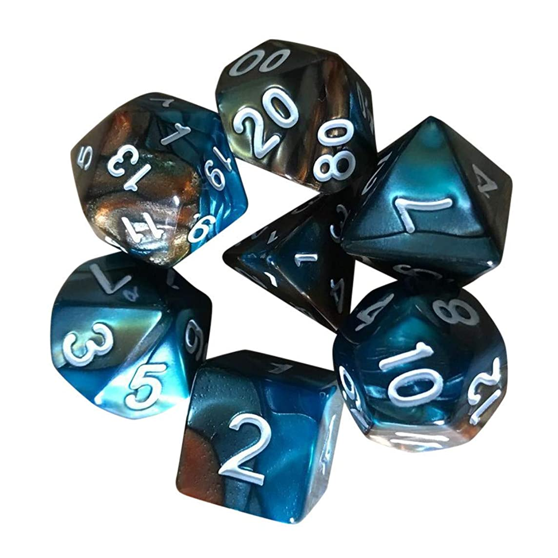 MultiSided Acrylic Dice 7pcs/Set TRPG Game Dungeons & Dragons Polyhedral D4-D20